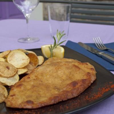 petto di pollo marinato cotto alla milanese